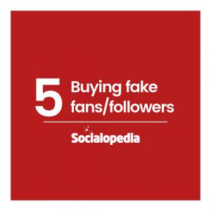 Social media brand problem buying followers