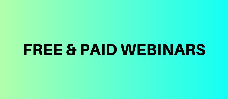 Socialopedias free and paid webinars