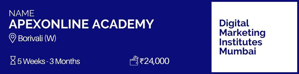 Apexonline Academy- Digital Marketing Institutes