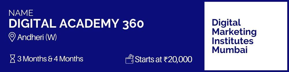 Digital Academy 360- Digital Marketing Institutes